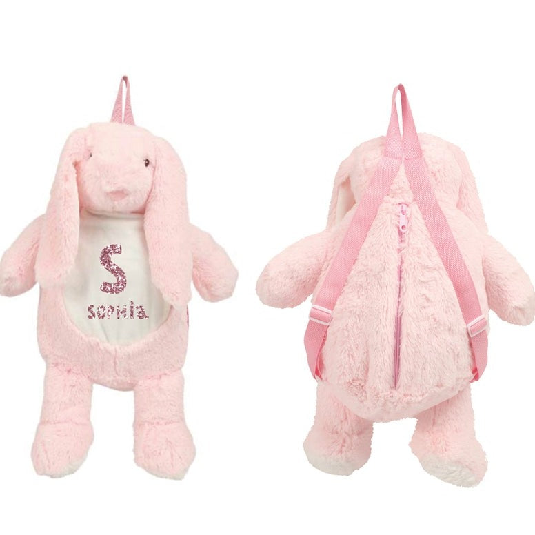 Easter Bunny Plush Toy Bag Pink