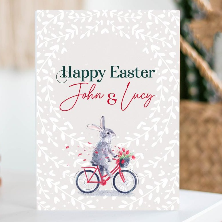 Personalised Easter Card with Name