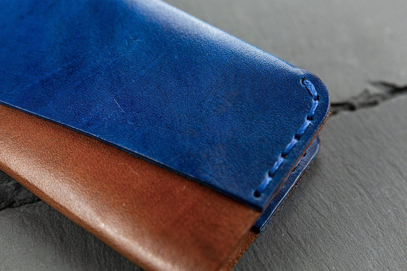 Foldable Handmade Leather Card Holder
