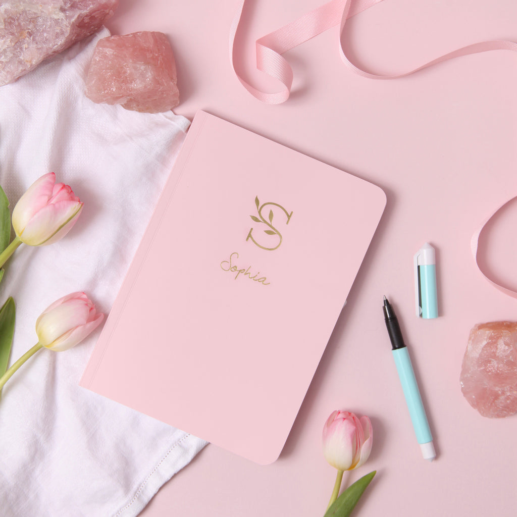 Personalised Foil A5 Notebook Initials and Name