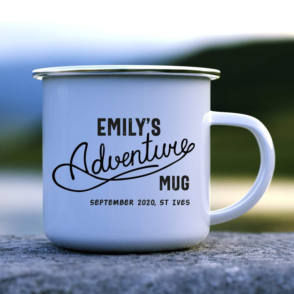Adventure Mug with Name and Location