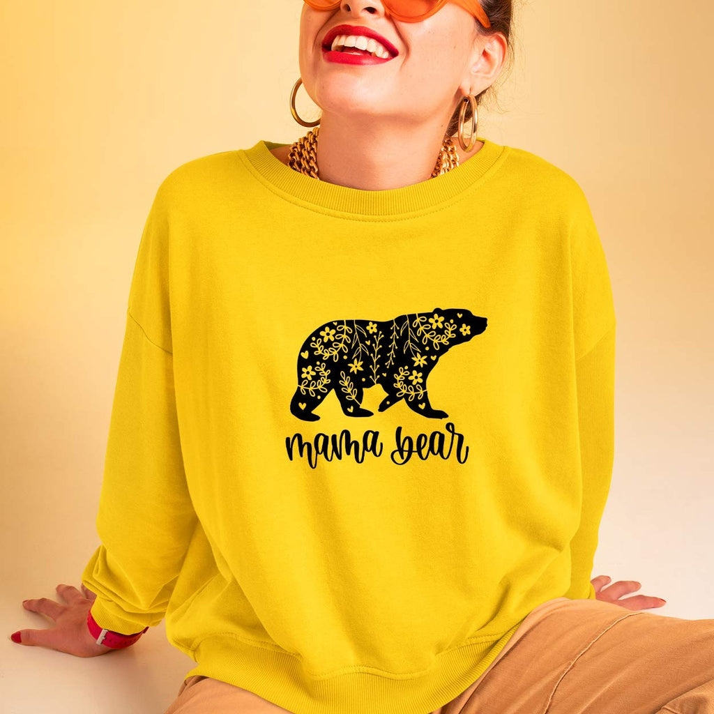 Mother's Day Sweatshirt | Mama Bear Floral Jumper