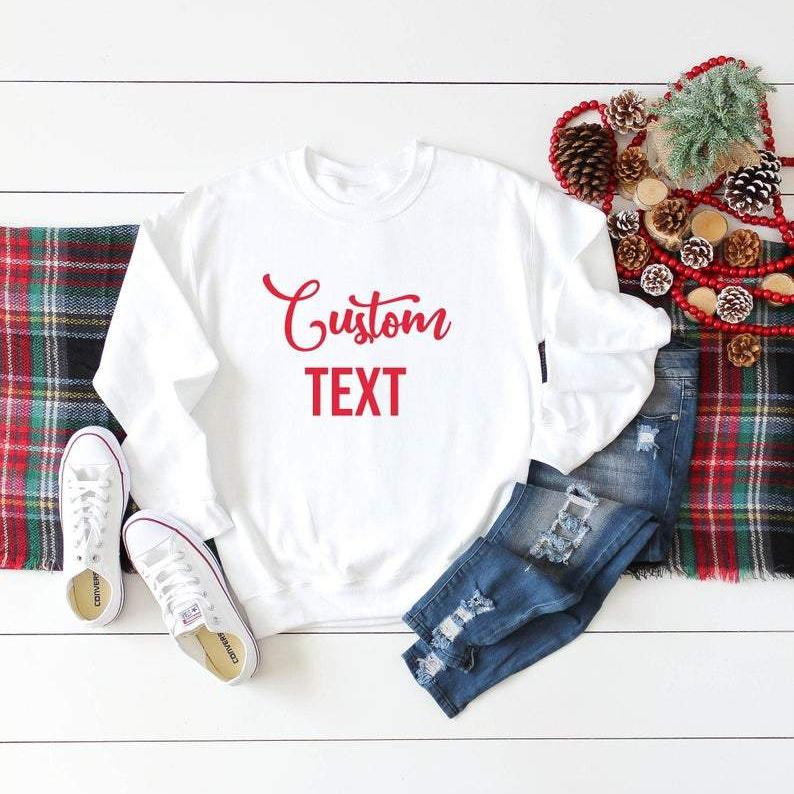 Christmas Custom Text Jumper