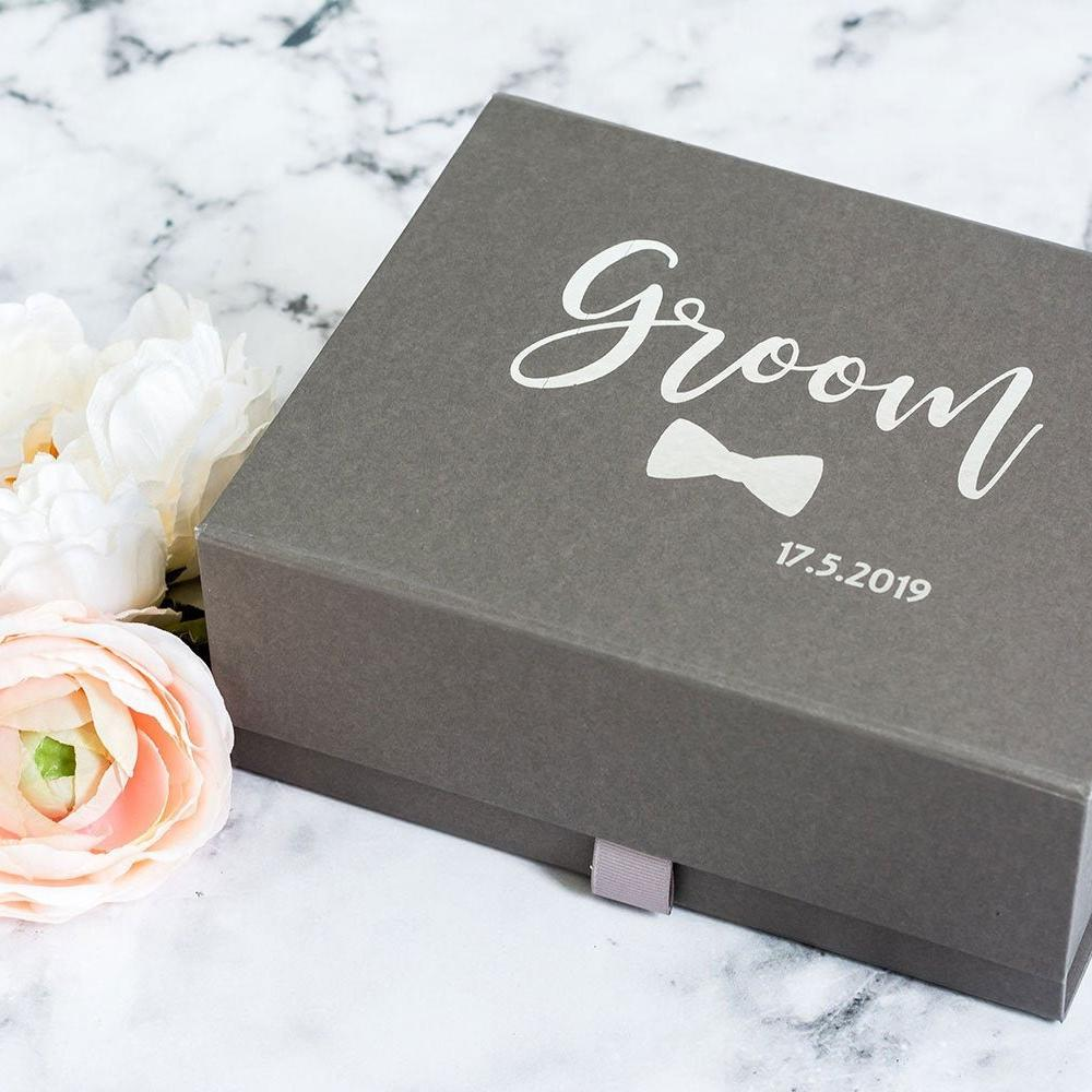 Groom Gift Box Personalised with Wedding Date