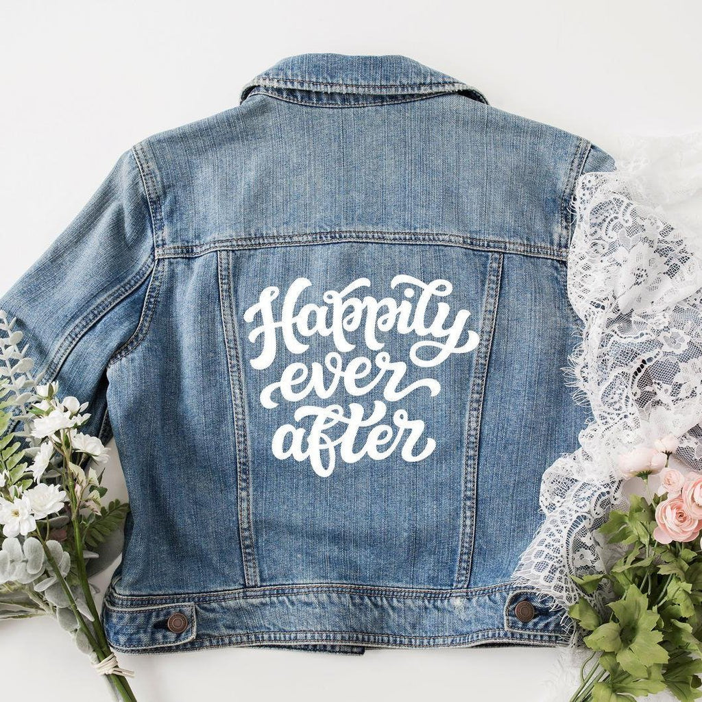 Happily Ever After Bride Denim Jacket