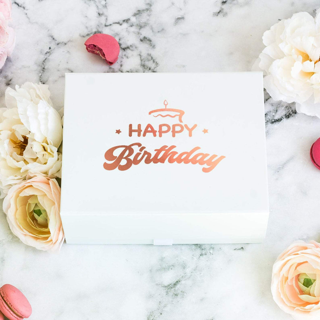 Happy Birthday Gift Box with Secret Message Inside