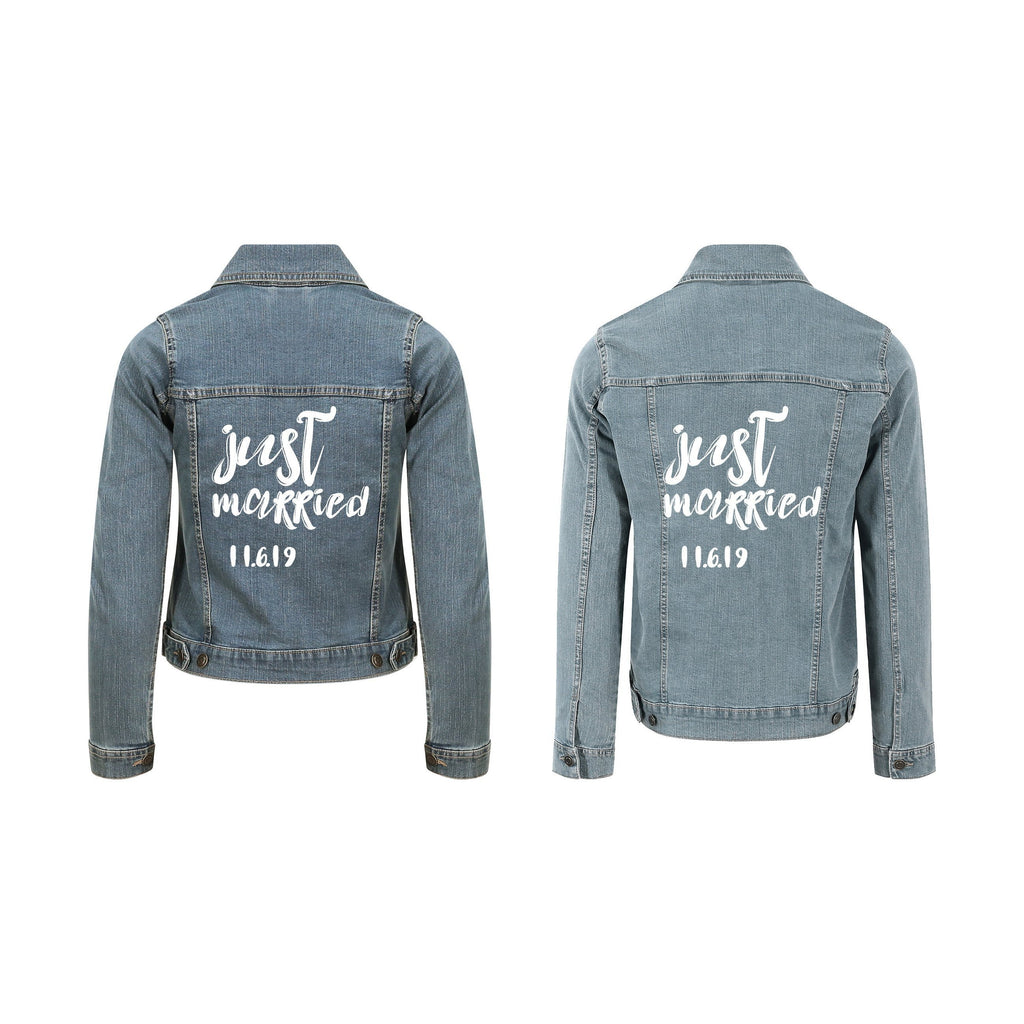 Just Married Jean Jacket | Bride Groom Denim Jacket