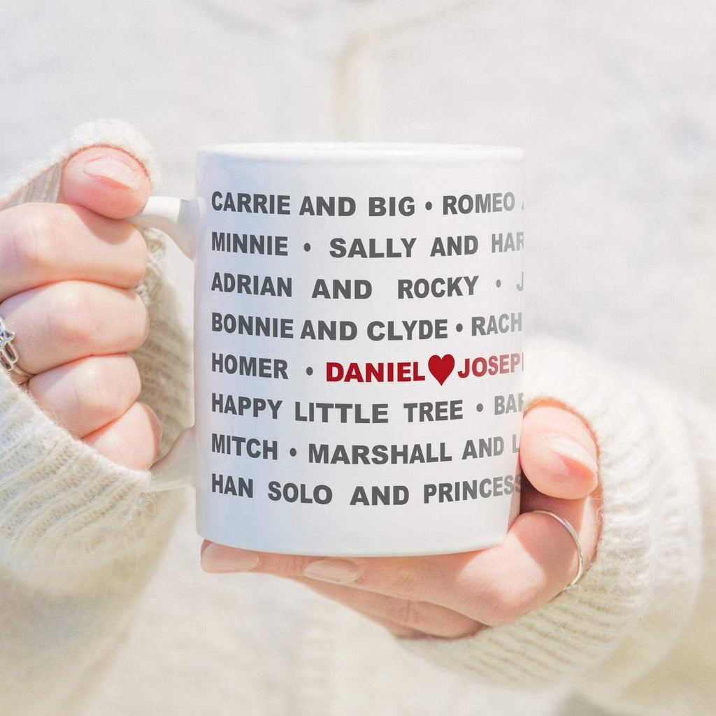 Legend Couples Mug | Personalised Love Mug Gift | Movie Character Couples