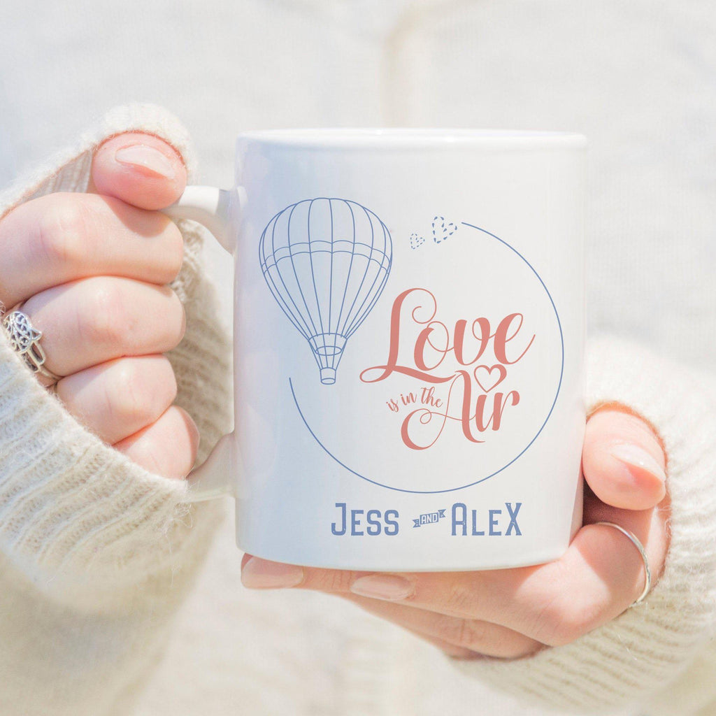Love is in the Air Personalised Mug with Names