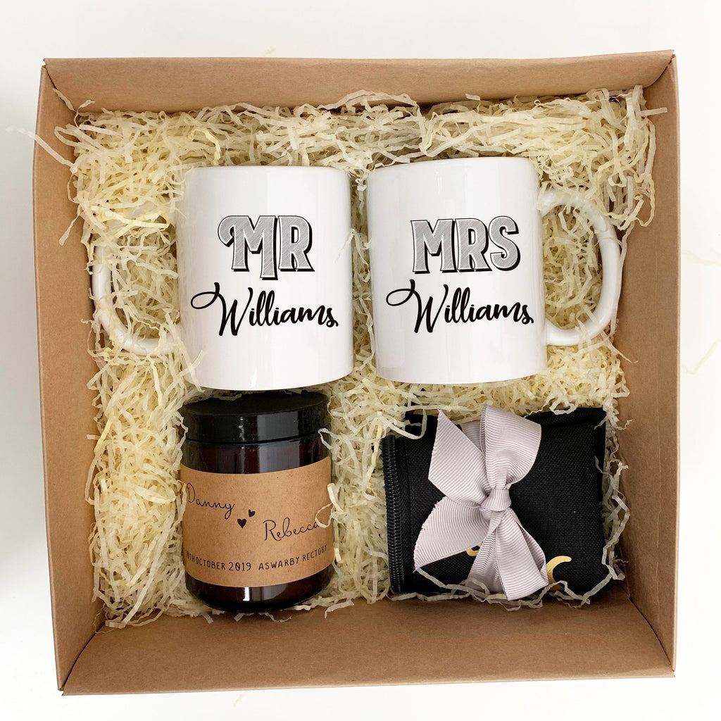 Mr Mrs Wedding Gift Set