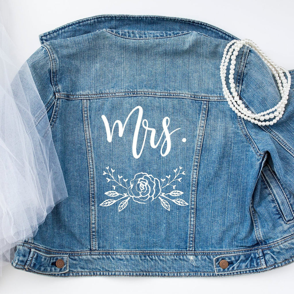Mrs / Bride Wedding Denim Jacket