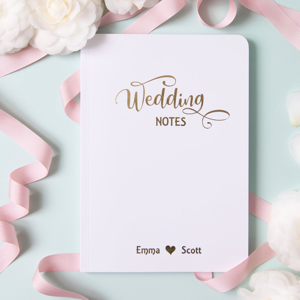 Personalised Foiled A5 Wedding Planner Notebook