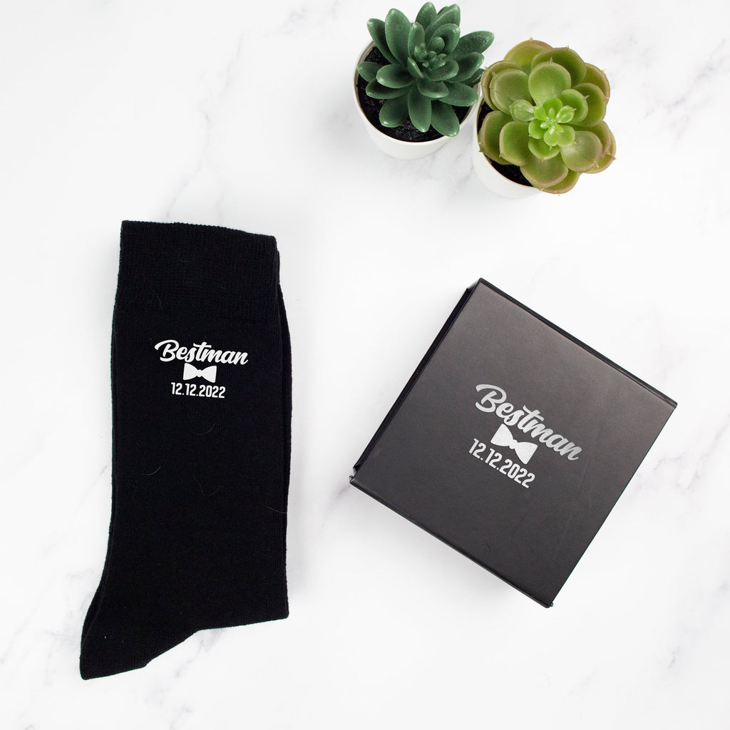 Personalised BestMan Socks with Name