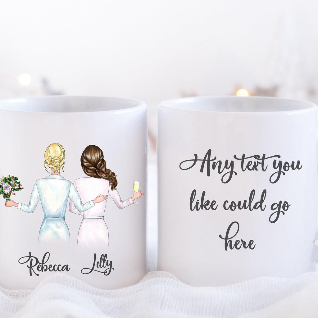 Personalised Bridesmaid Proposal Mug with Bridesmaid Illustration