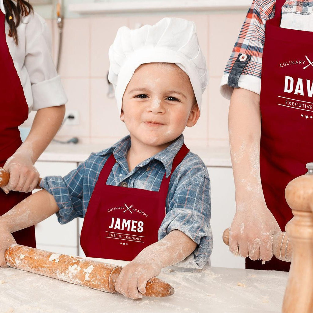 Personalised Family Apron | Kid's Chef in Training Apron