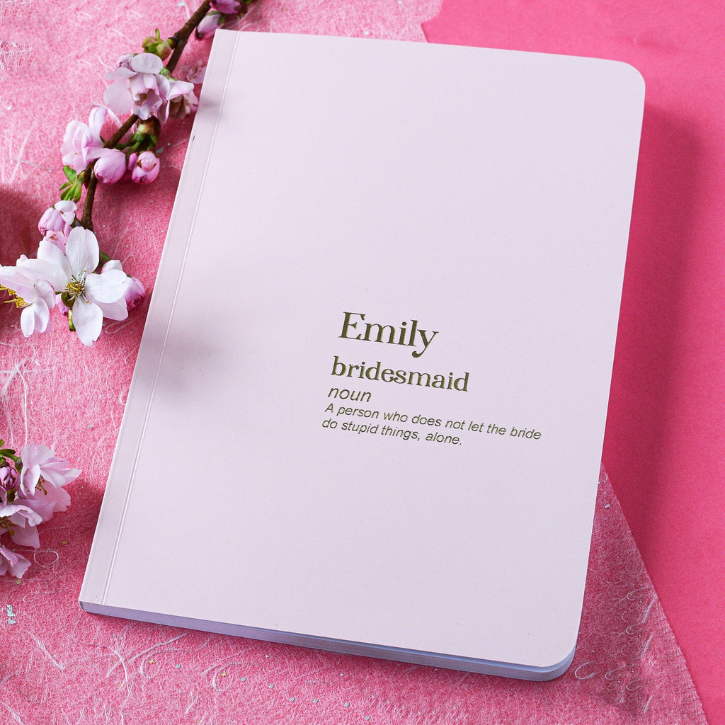 Personalised Foiled Bridesmaid - Maid of Honour Proposal Notebook