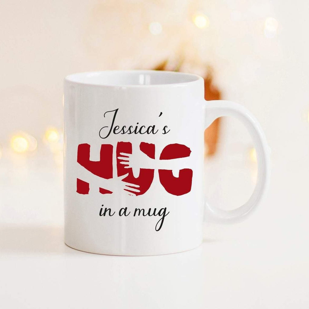 Personalised Hug Mug Send A Hug Gift | Social Distancing Hug in a Mug