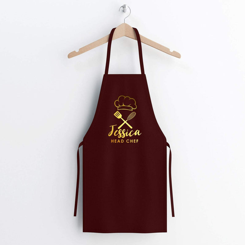 Personalised Rose Gold Apron | Cooking Baking Gift Apron