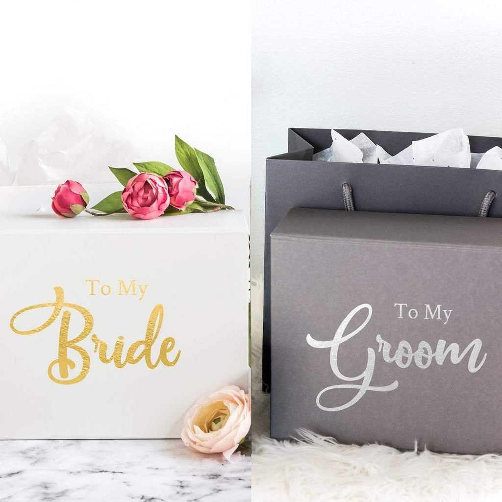 Personalised Wedding Day Gift Box with Hidden Message