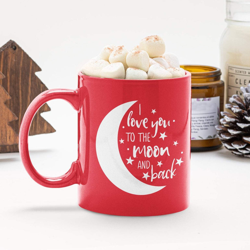 Valentines Mug Red, Love You To The Moon And Back