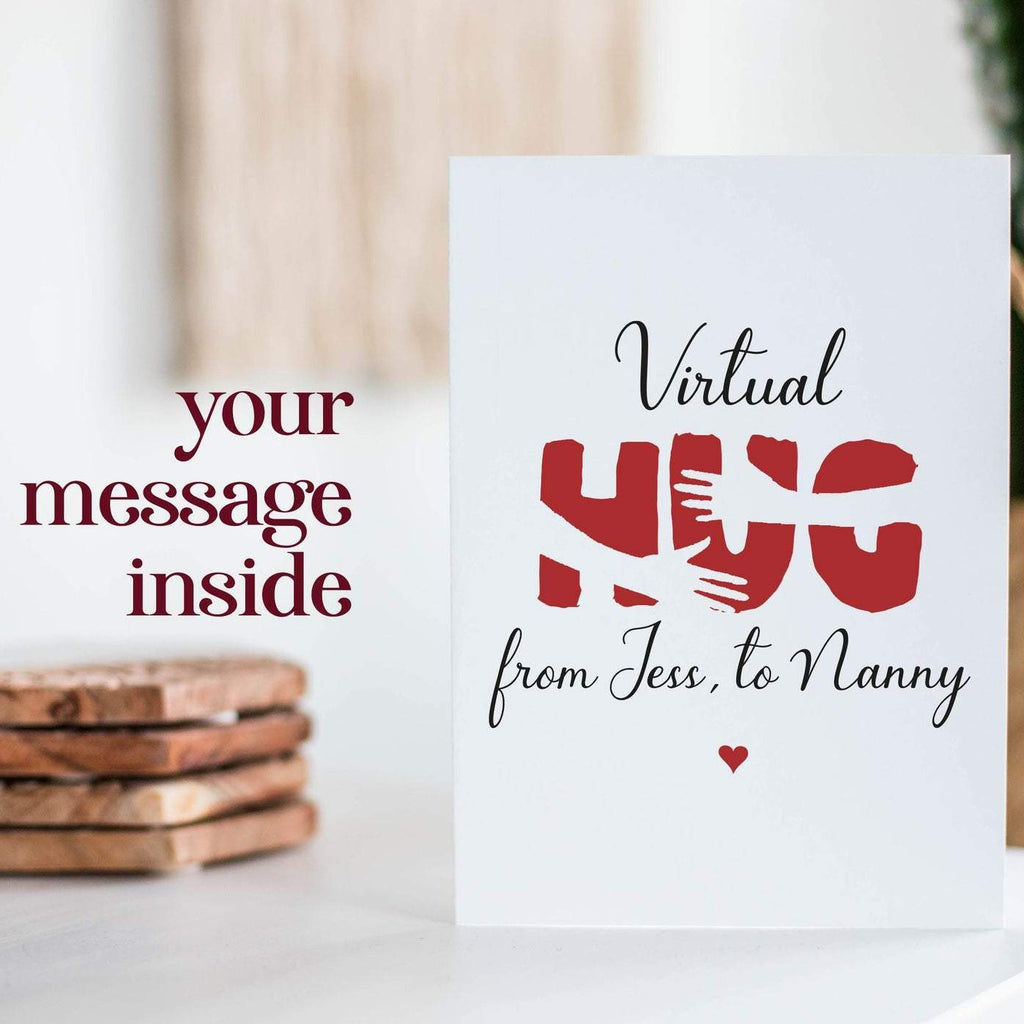 Virtual Hug Social Distancing Card | Send A Hug Gift
