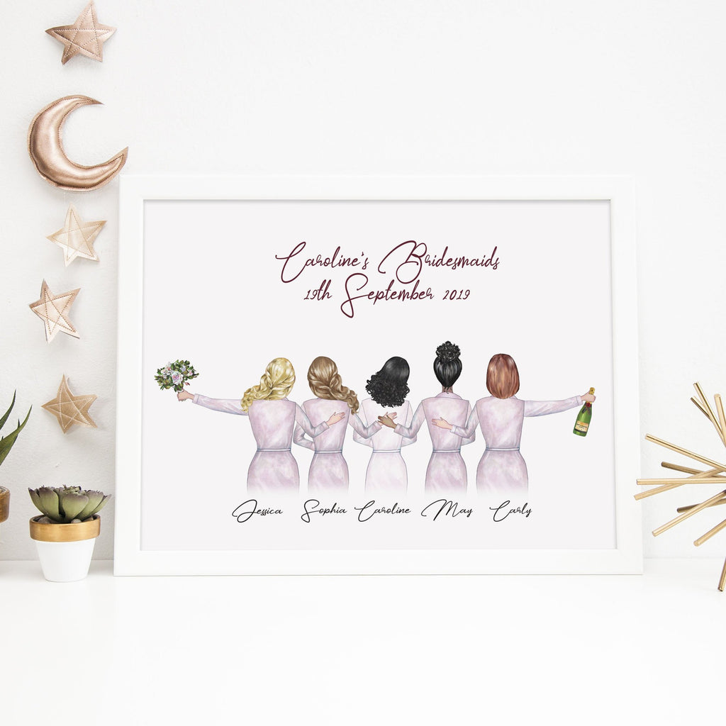 Wedding Bridesmaid Proposal Card | Thank You Card Print