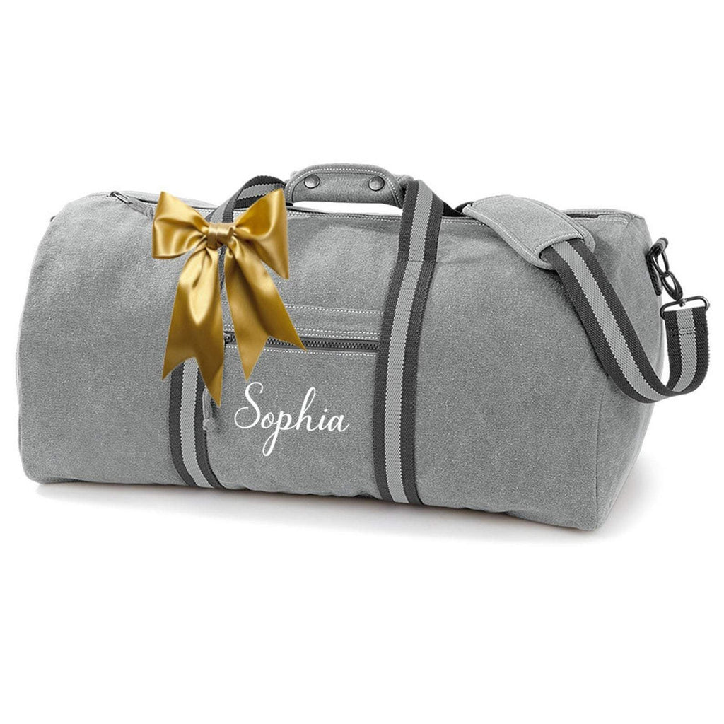 Women's Duffel Bag Vintage Canvas Holdall Travel Bag