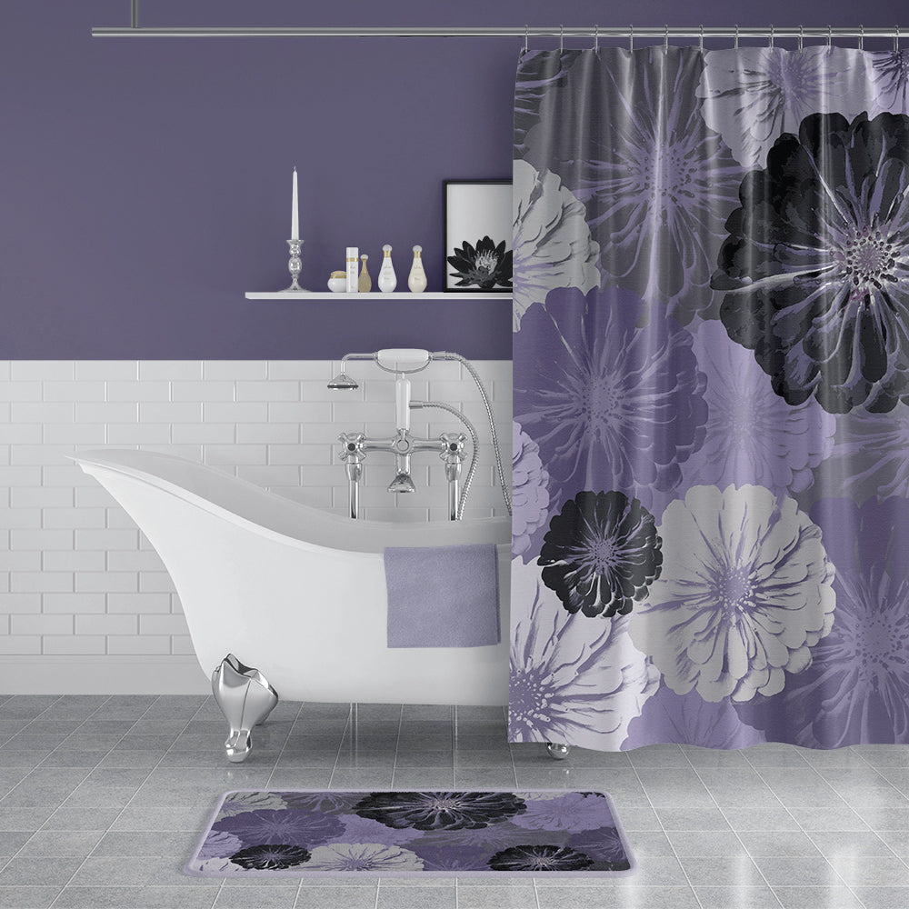 Designing a Purple Bathroom - with Free Printable Iris & Butterfly Wall Art