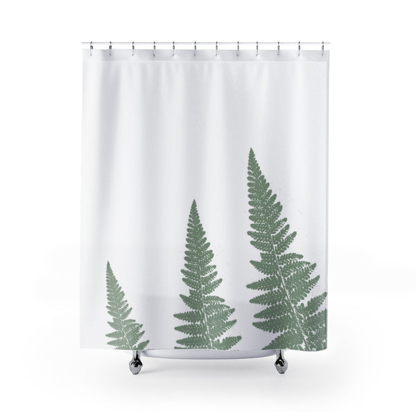 large green fern shower curtain