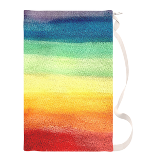 Rainbow Watercolor Laundry Bag - Metro Shower Curtains