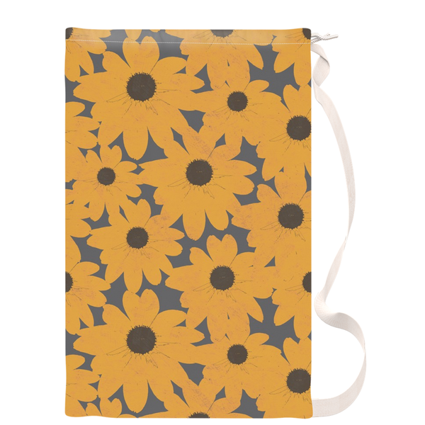 Black Eyed Susan Maryland State Flower Laundry Bag - Metro Shower Curtains