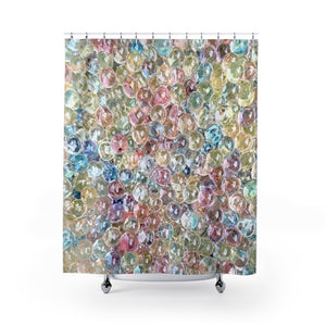 Pastel Water Beads Shower Curtain for Whimsical Kids Bathroom - Metro Shower Curtains