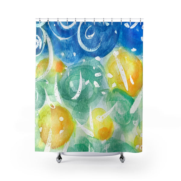 Field of Sunshine Bright and Colorful Watercolor Art Shower Curtain