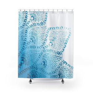 Tropical Teal Ombre & Lace Mandala Tropical Beach Chic Shower Curtain - Metro Shower Curtains