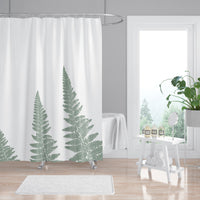 Green woodland fern spa bathroom