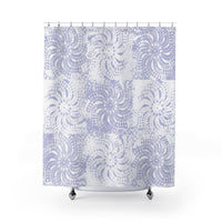 Periwinkle Boho Shower Curtain