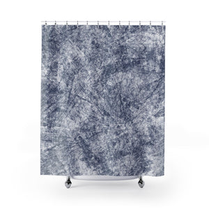 Navy Blue Farmhouse Distressed Shower Curtain - Metro Shower Curtains