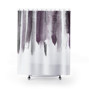 Plum Purple Watercolor Top Shower Curtain - Metro Shower Curtains