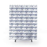 Wash Blue and White Stripes Shower Curtain