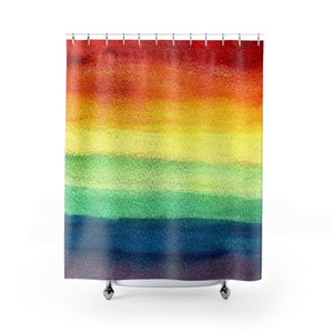 Rainbow Pride Watercolor Shower Curtain - Metro Shower Curtains
