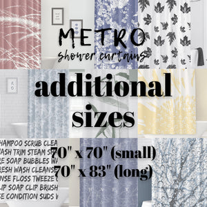 Any Metro Shower Curtains Design - Additional Sizes: 70x70 or 70x83 - Metro Shower Curtains