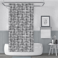 Black and white tribal pattern shower curtain
