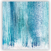 Aqua watercolor shower curtain full print preview