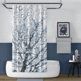 Blue white and black modern nature bathroom