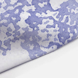 Deep Periwinkle Blue Boho Watercolor Lace Print Shower Curtain
