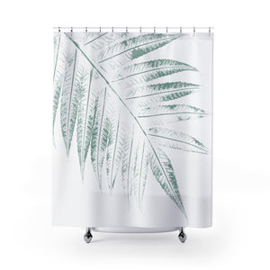 Giant Green Sumac Leaves - Botanical Spa Shower Curtain - Metro Shower Curtains