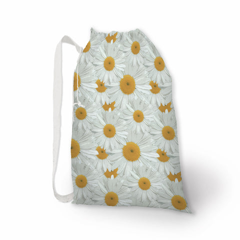 Daisy Print Laundry Bag - Metro Shower Curtains