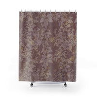 Dusty pink botanical shower curtain