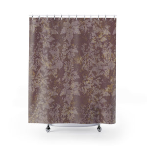 Rose Gold / Dusty Pink Botanical Damask / Faux Camo Style Print Shower Curtain - Metro Shower Curtains