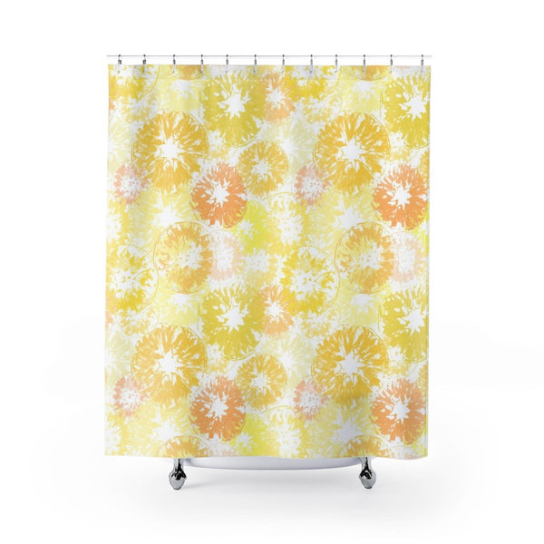 Bright Yellow and Orange Citrus Shower Curtain
